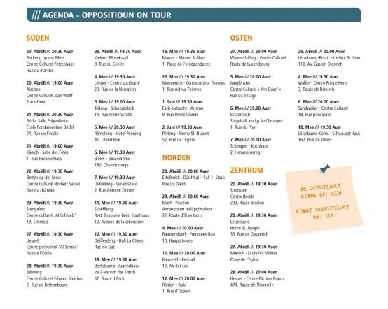 Agenda-On tour