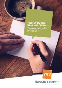 Bréifwahl 2018 Vote Par Correspondance 2018 Csv Chrëschtlech